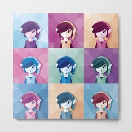 Digital Star Pop Art Portrait | n°04 Metal Print