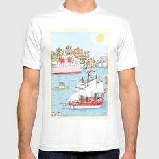 The Harbor White MEDIUM Mens Fitted Tee