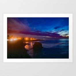 The Elegance of Sunset Cliffs Art Print