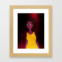 the singer Framed Art Print