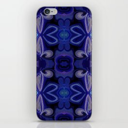 Double Blue Lotus iPhone Skin