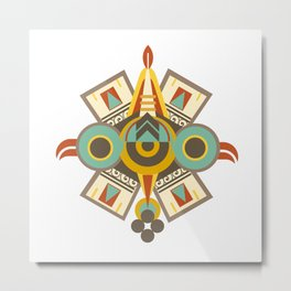 Aztec - Symbol of Ollin Metal Print