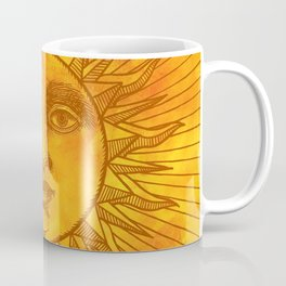 Sun vintage orange Coffee Mug