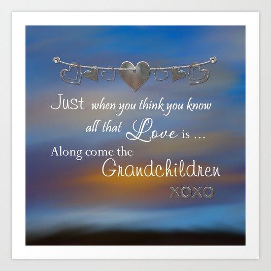 Grandchildren Art Print
