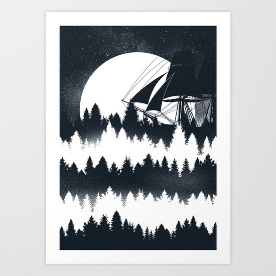 Forest Wave Art Print