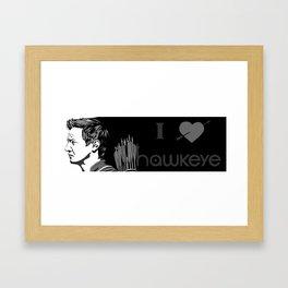 Black and White Penwork Framed Art Print