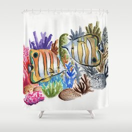Dying Reef Shower Curtain