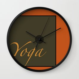 Yoga Wall Clock