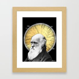 Darwin and the Phylogenetic Tree Framed Art Print