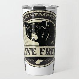 WV Black Bear Live Free T-Shirt Travel Mug