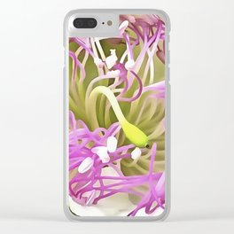 Caper Flower Blossom Clear iPhone Case