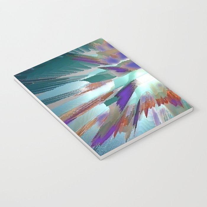 Pow Teal Splash Notebook