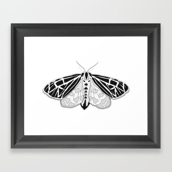Virgin Tiger Moth Framed Art Print