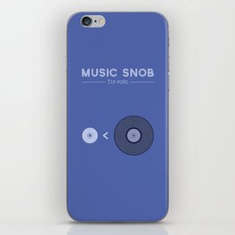 "NOT ""The New Vinyl"" — Music Snob Tip #082 iPhone Skin"