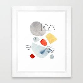 Walking Backwards Framed Art Print