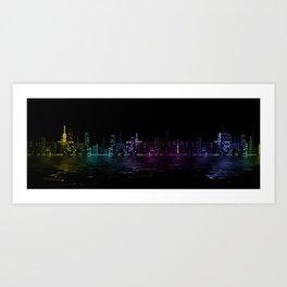 Abstract City Art Print
