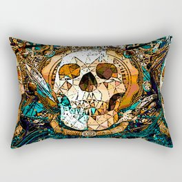 Old Skull Rectangular Pillow