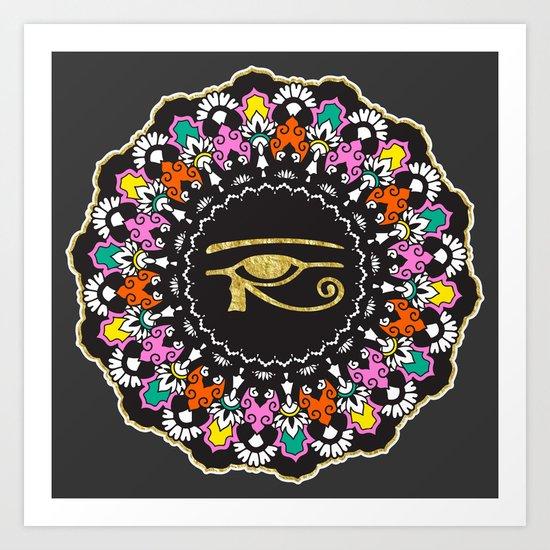 Eye of Horus Mandala Art Print