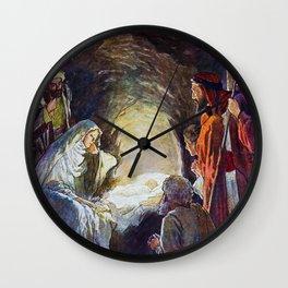 Birth of Jesus Wall Clock