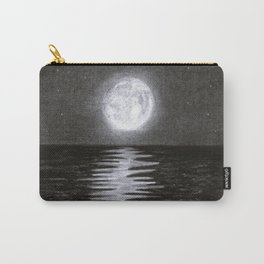 Moon Over Ocean Carry-All Pouch