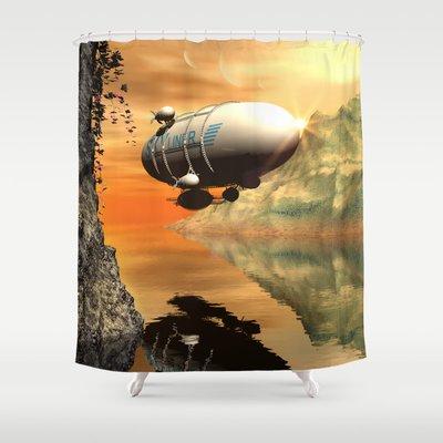 Zeppelin Nicky2342 6999 Shower Curtain