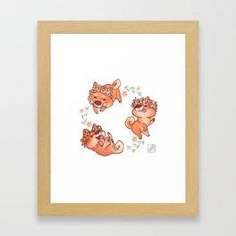 Flower Doges Framed Art Print