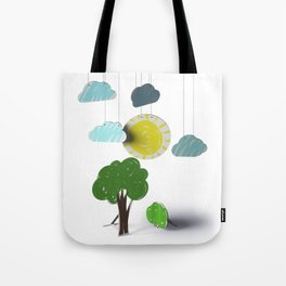 Sunny Day 3D Paper Craft Tote Bag