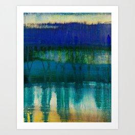 sea and sky meltdown Art Print
