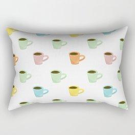 Coffee Pattern Rectangular Pillow