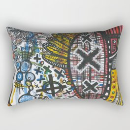 Feathers or Rockets Rectangular Pillow
