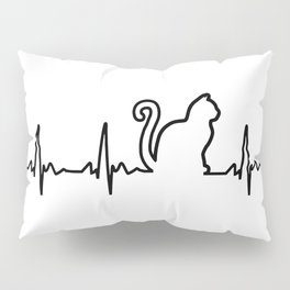 Cat Heartbeat Pillow Sham