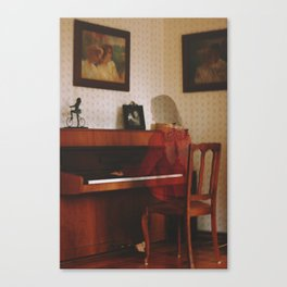 Piano lesson Canvas Print