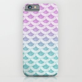 Pastel Mermaid Scales #1 #pastel #decor #art #society6 iPhone Case