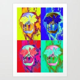skull-splosion Art Print