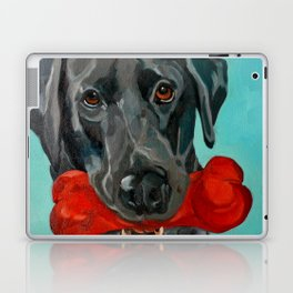 Ozzie the Black Labrador Retriever Laptop & iPad Skin