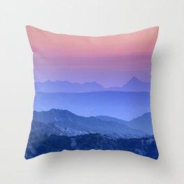 """""""Mountain dreams"""". At sunset. Throw Pillow"""