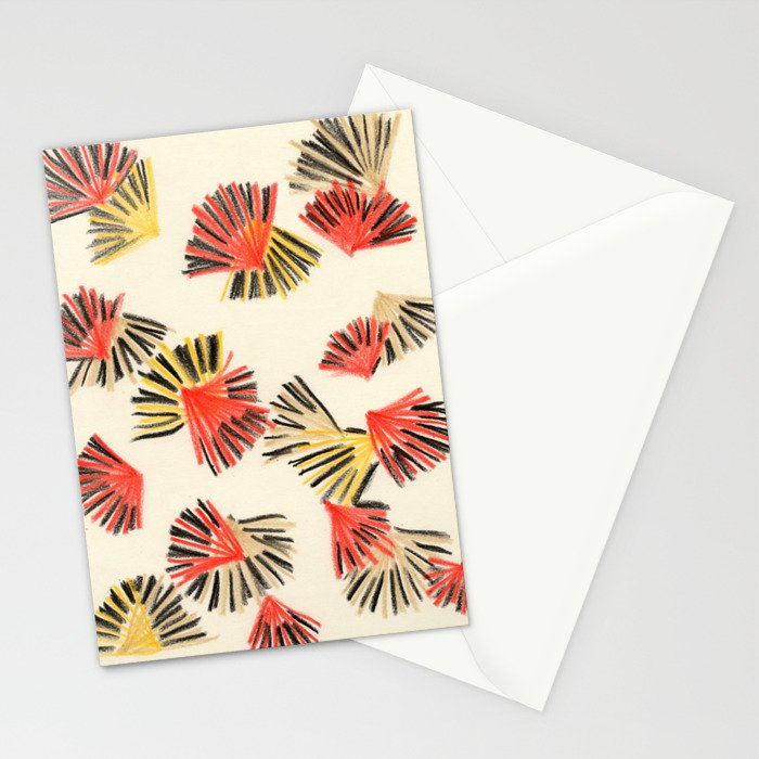Starburst in Flame Stationery Cards