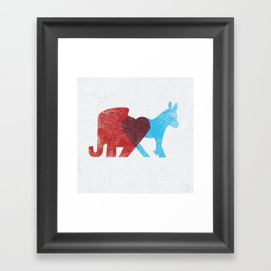 Share Opinions Framed Art Print