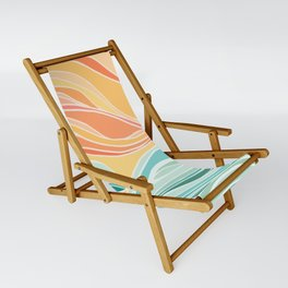 Sea and Sky II / Abstract Landscape Sling Chair