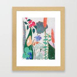 Speckled Garden Framed Art Print