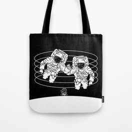 Astronaut black and white Gemini Tote Bag