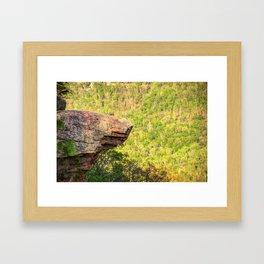 Hawksbill Crag - Whitaker Point - Northwest Arkansas Framed Art Print