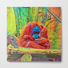 AnimalColor_OrangUtan_018_by_JAMColors Metal Print