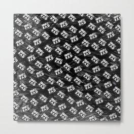 100 % RAD Pattern Metal Print