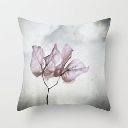 pale flower Throw Pillow