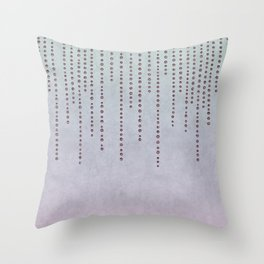 Sparkling Faux Glitter Soft Pastel Pink and Teal Throw Pillow