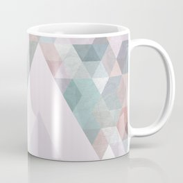 Pastel Graphic Winter Mountains on Geometry #abstractart Coffee Mug