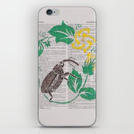 I Shall Fear No Weevil   (Boll Weevil and Cotton Blossoms) iPhone Skin