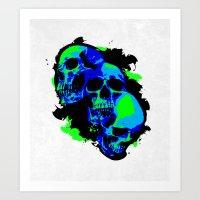 Mutations (neon) Art Print