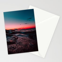 Pink ocean from sunset Stationery Cards